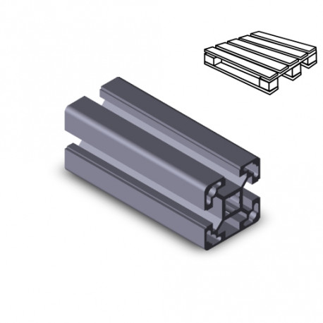 Profilo in alluminio 40x40L 3N (Cassa 20 barre)