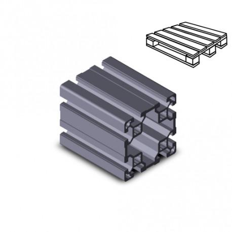 Profilo in alluminio 80x80L (Cassa 6 barre)