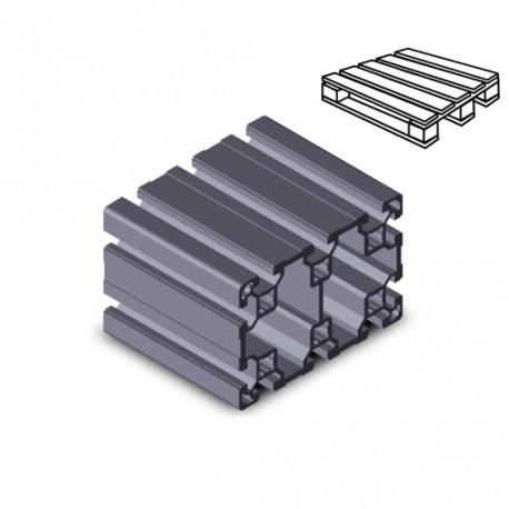 Profilo in alluminio 80x120L (Cassa 4 barre)