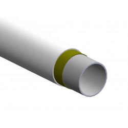 Tubo in acciaio ø28 bianco